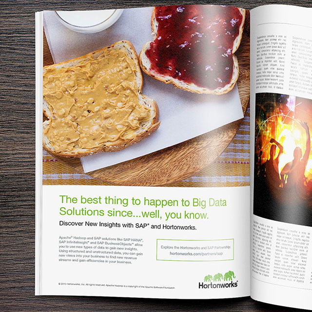 Hortonworks SAP Print Advertisement
