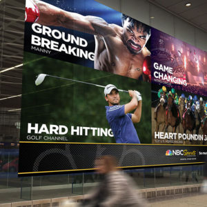 NBC Universal Sportel Advertising Signage