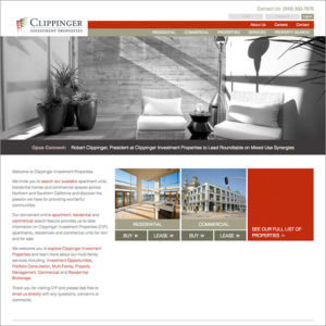 Clippinger Website Design Homepage