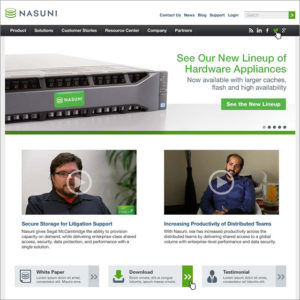 Nasuni Website Design Desktop Thumb